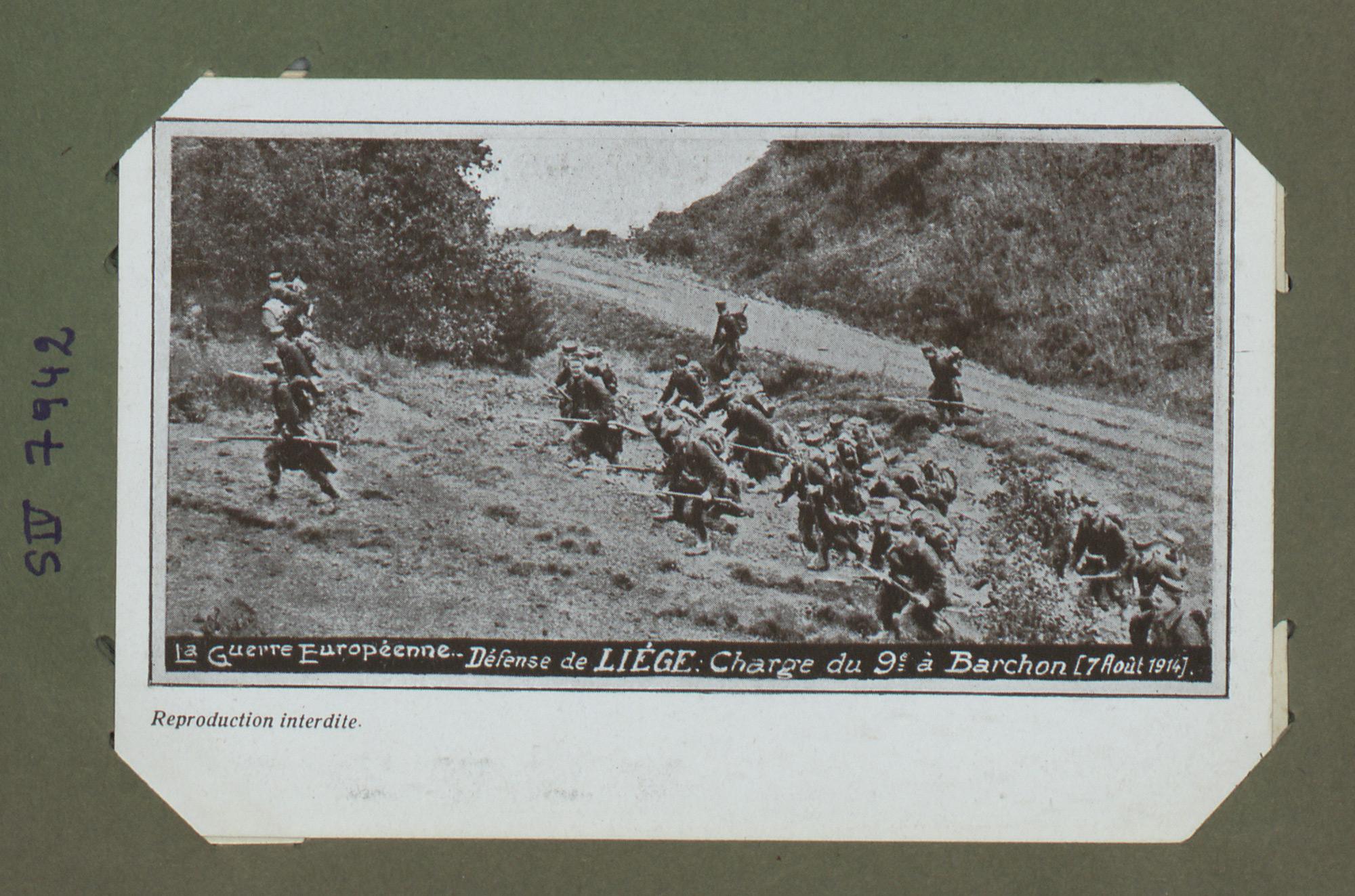 La guerre Européenne. Défense de Liège : charge du 9e à Barchon (7 Août 1914)