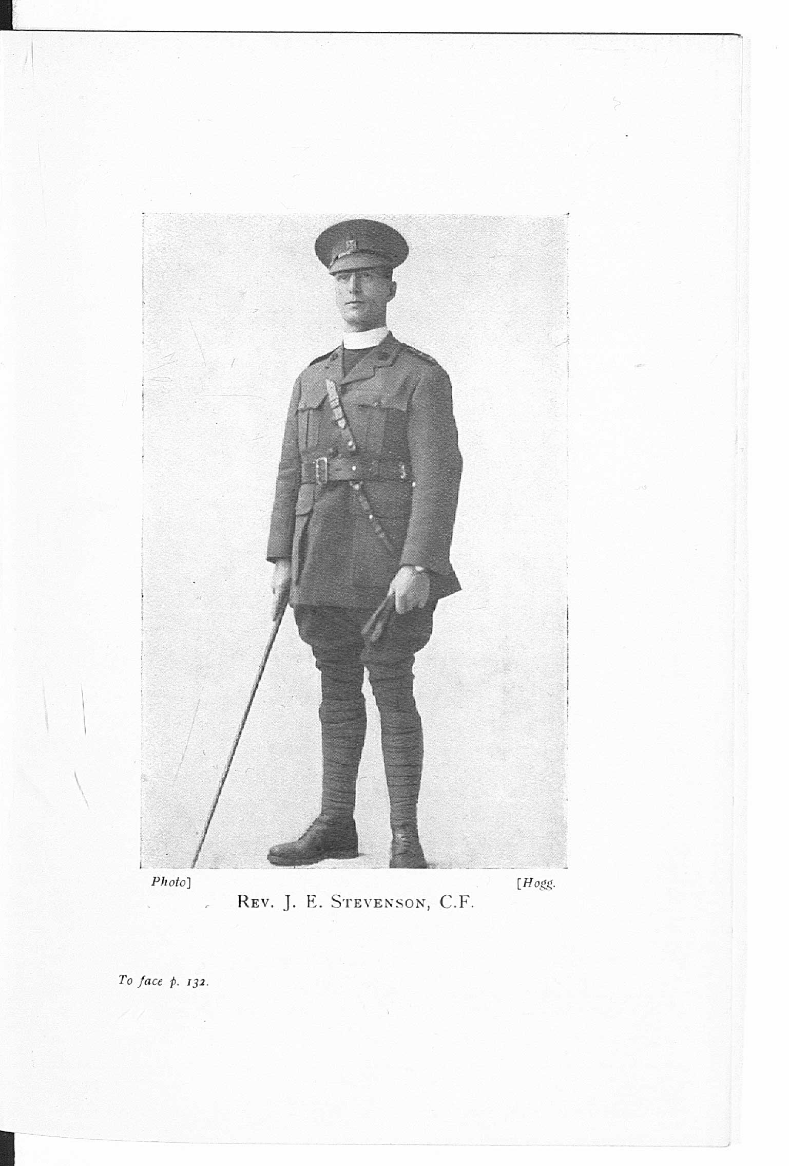 Photograph from 'Some Chaplains in Khaki', a book by Reverend Frederic Chambers Spurr about the work of army chaplains.