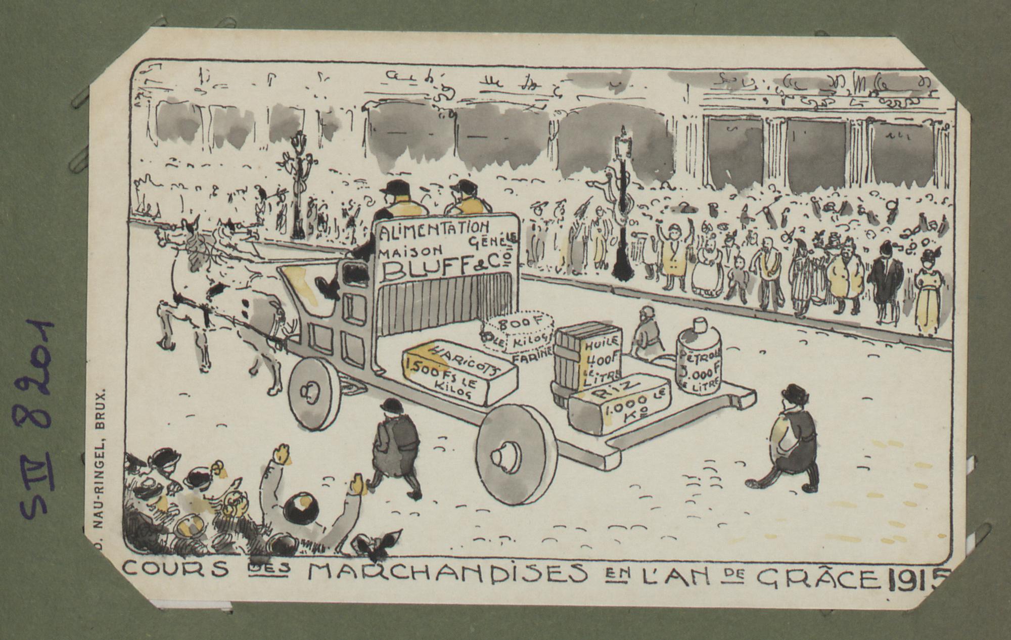 Cours des Marchandises en l'an de grâce 1915