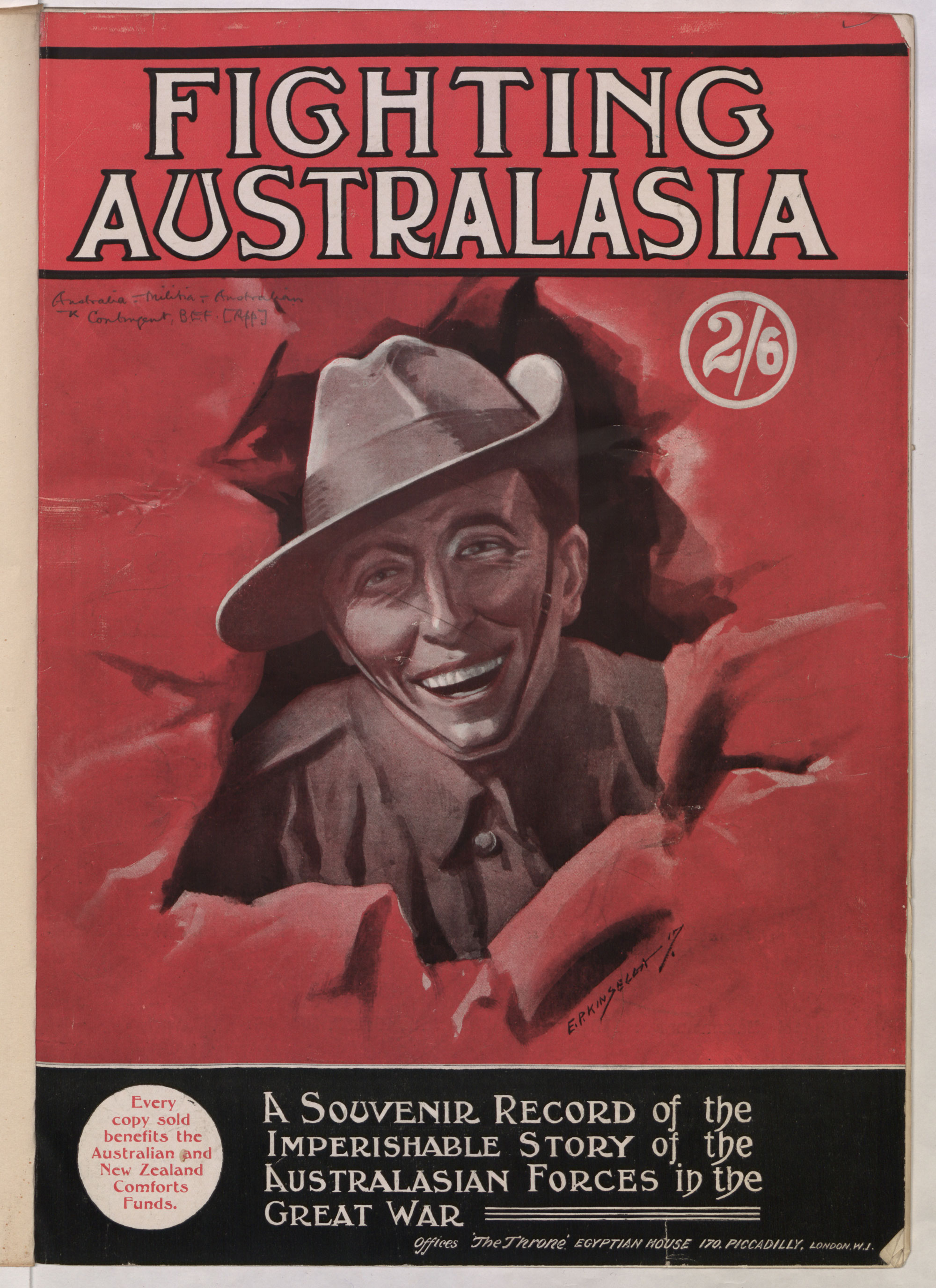 """The Glorious Story of the Fighting Australasians: an imperishable record of the great part played by our Kinsmen from """"down under"""" in the World War"""