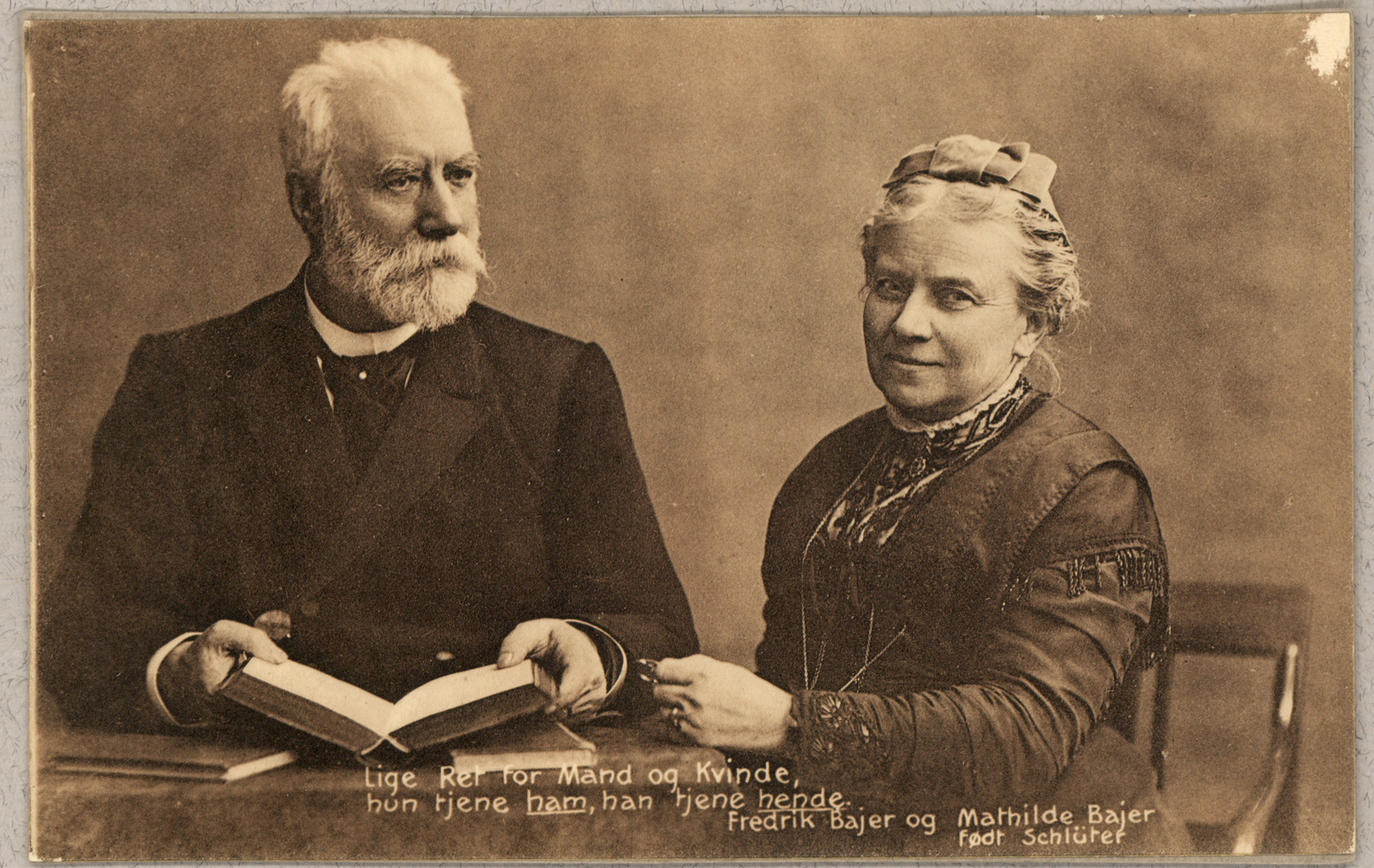 Frederik and Mathilde Bajer
