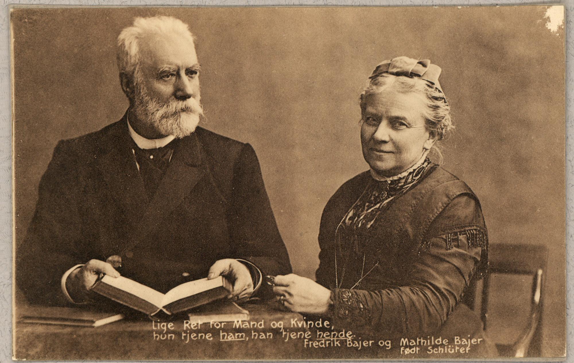 Frederik and Mathilde Bajer