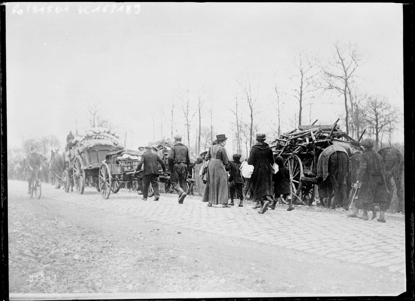 French refugees in the north