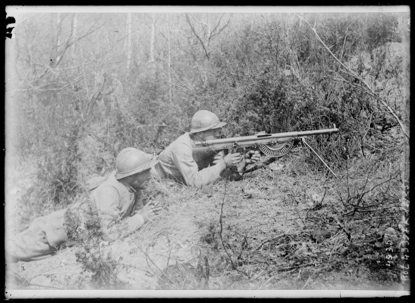 An innovation of the second half of the war, the French Chauchat allowed the infantry to keep moving and firing during attacks.