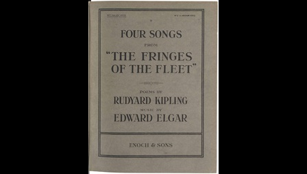 Fringes of the Fleet, composed by Elgar in 1915, was an example of music written during the war to raise people's spirits.