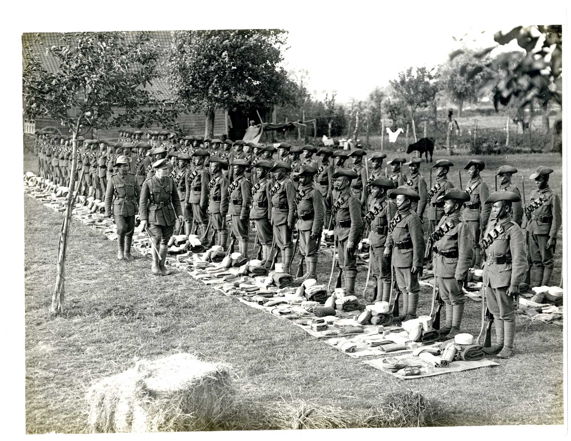 [1/4th] Gurkhas at kit inspection