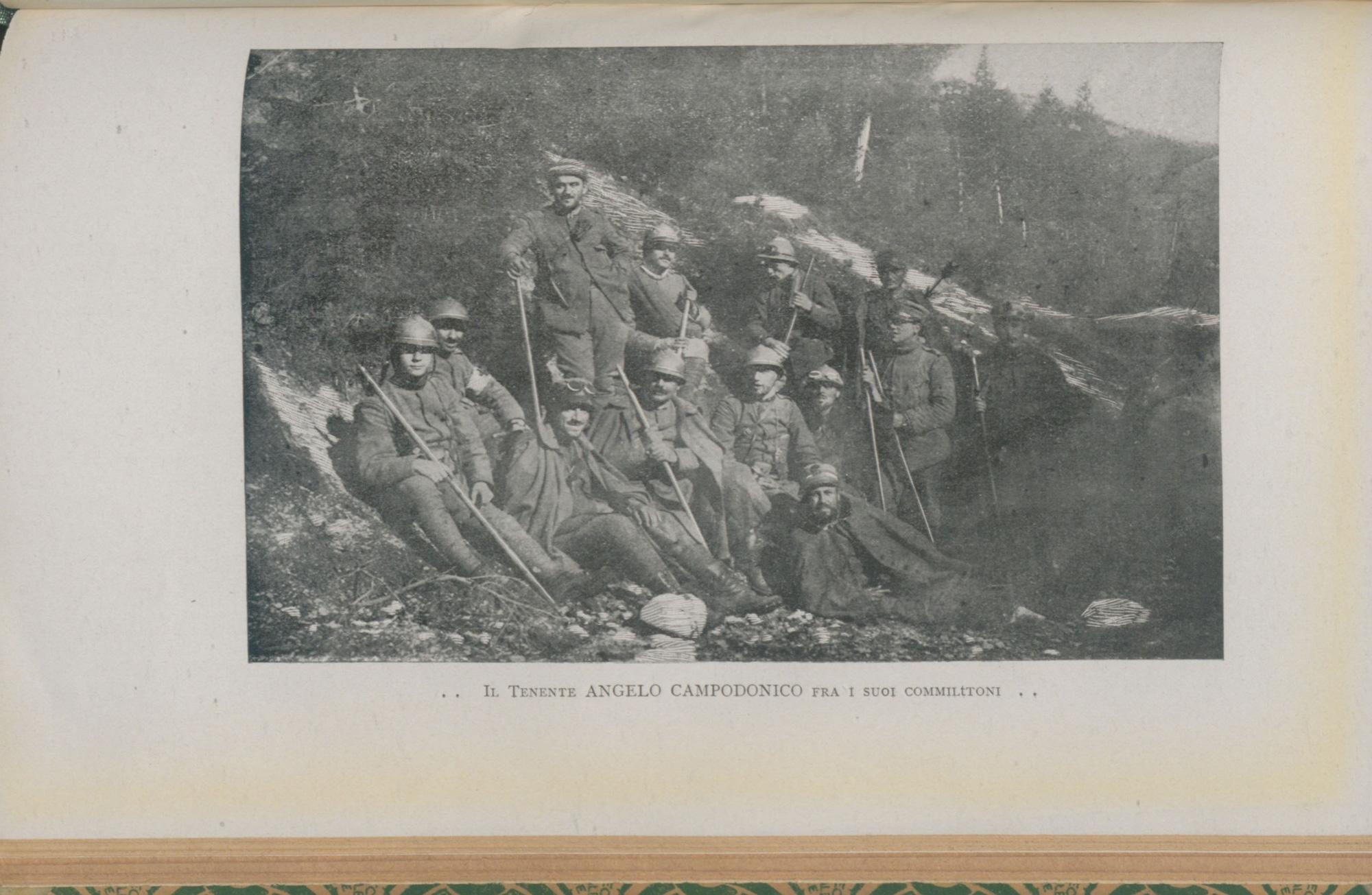 Lieutenant Angelo Campodonico among his comrades