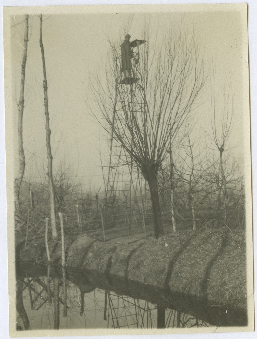 Artillery observation post. The raised position of the tower allowed for a better view of enemy territory, even from zones behind the front line.
