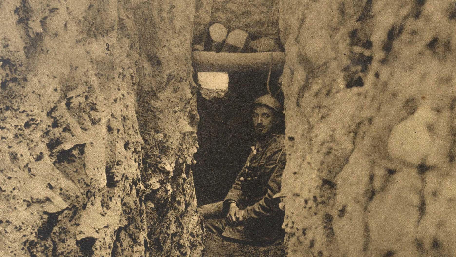 Serbian officer in an observation point near Kajmakcalan Hill (detail)