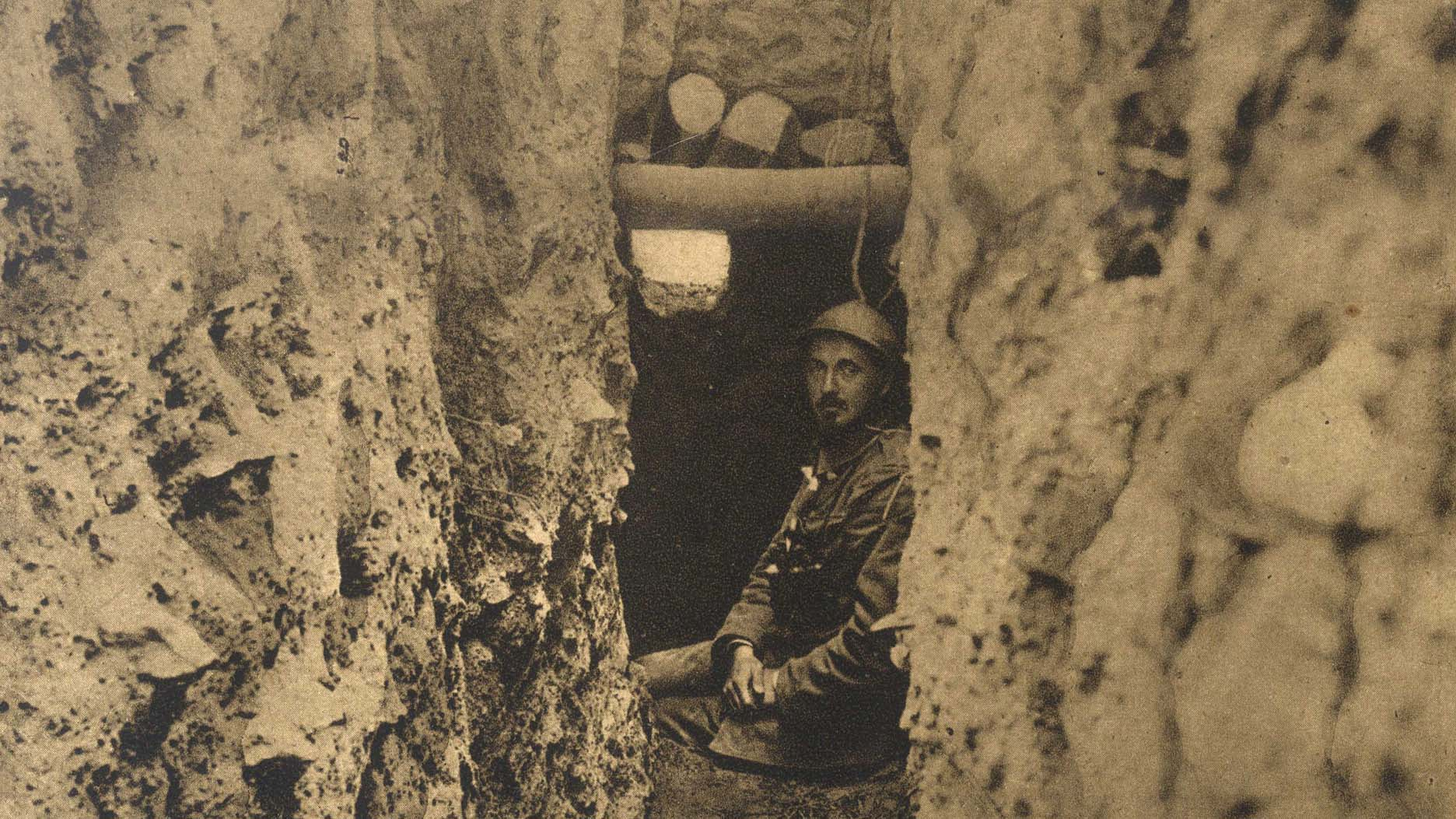 Serbian officer in an observation point near Kajmakcalan Hill (detail)