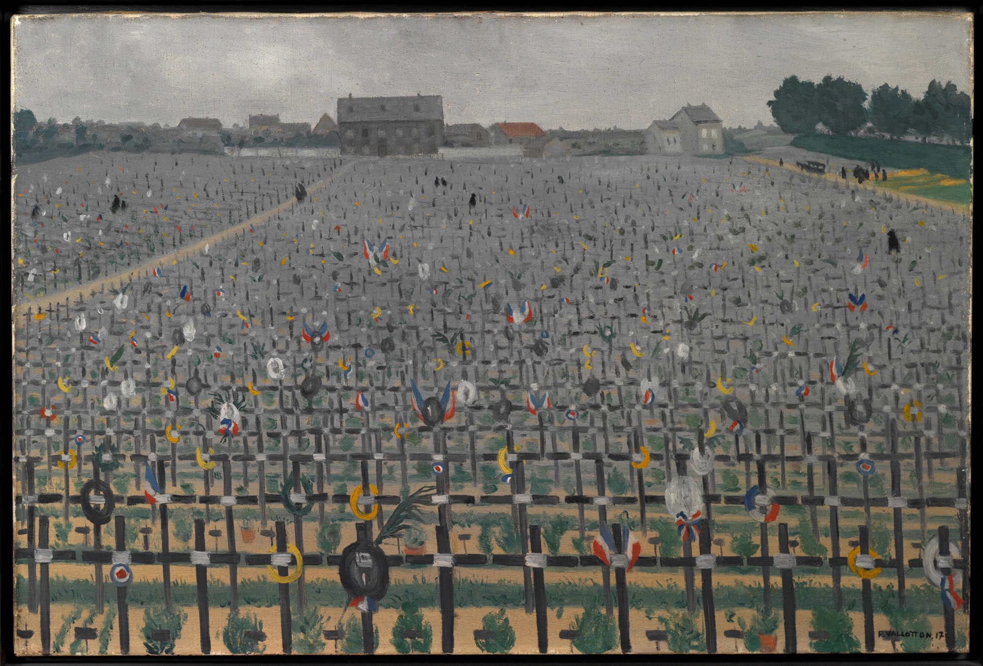 Military cemetery at Châlons-sur-Marne, June 1917