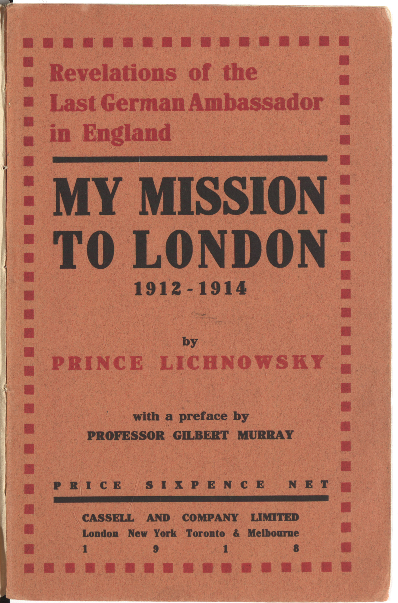 My Mission to London