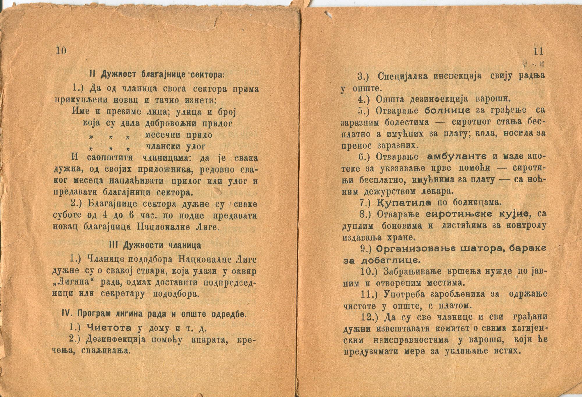 National league of Serbian women publication