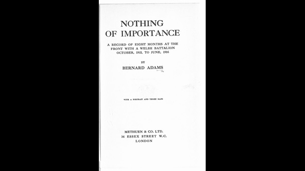 Nothing of Importance: A Record of Eight Months at the Front