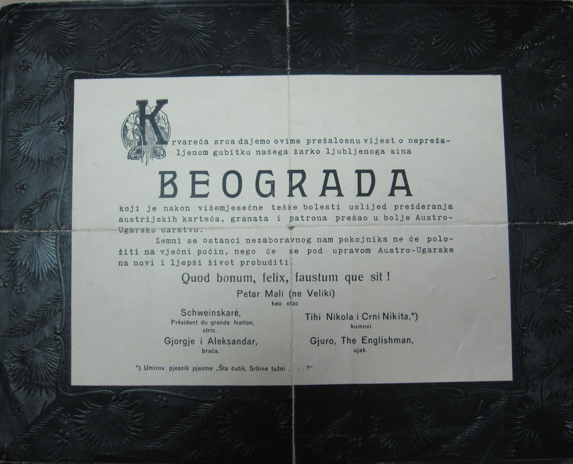 Belgrade and Serbia obituaries