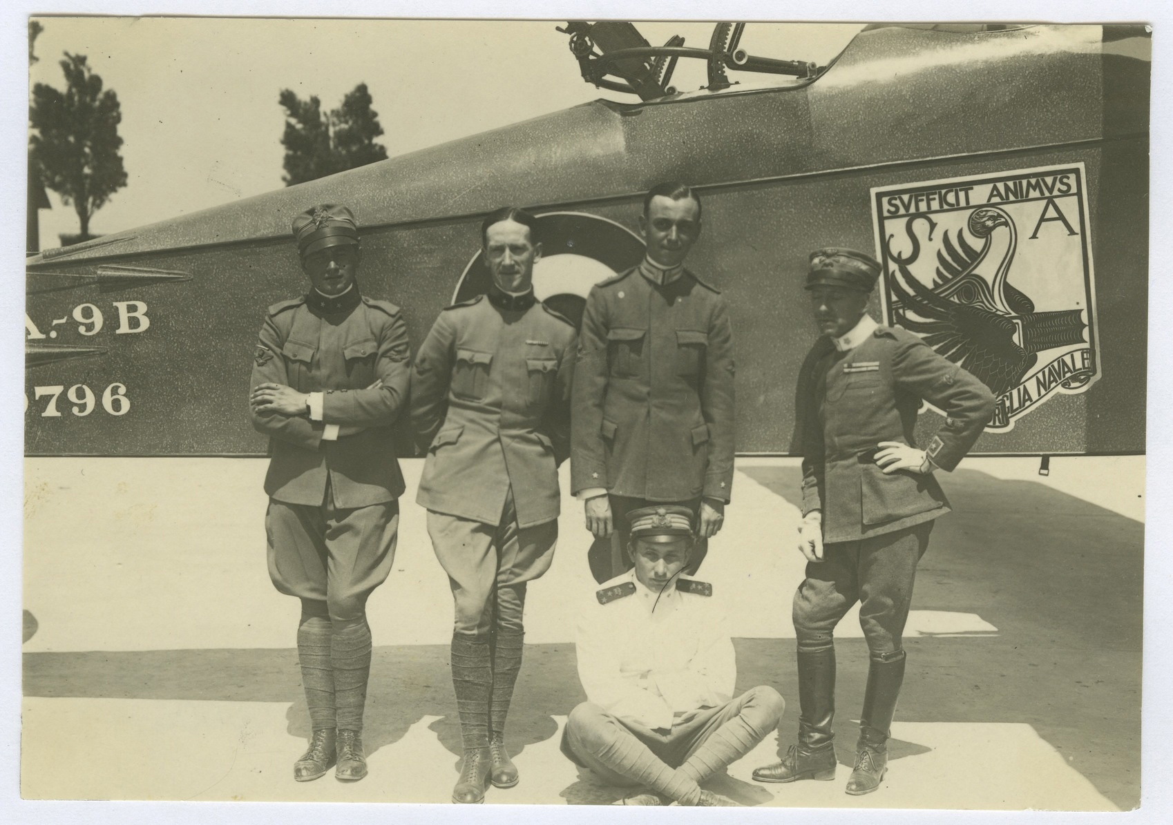 Pilots of the Italian First Naval Squadron, which was engaged to support the Italian Navy.