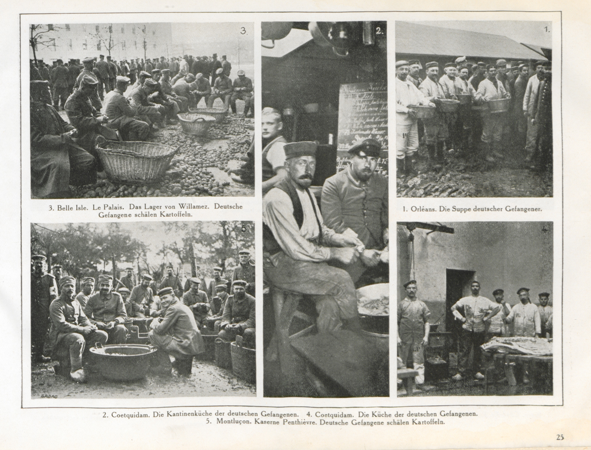 War imprisonment in France: 131 views of the German prison camps in France; with explanatory text