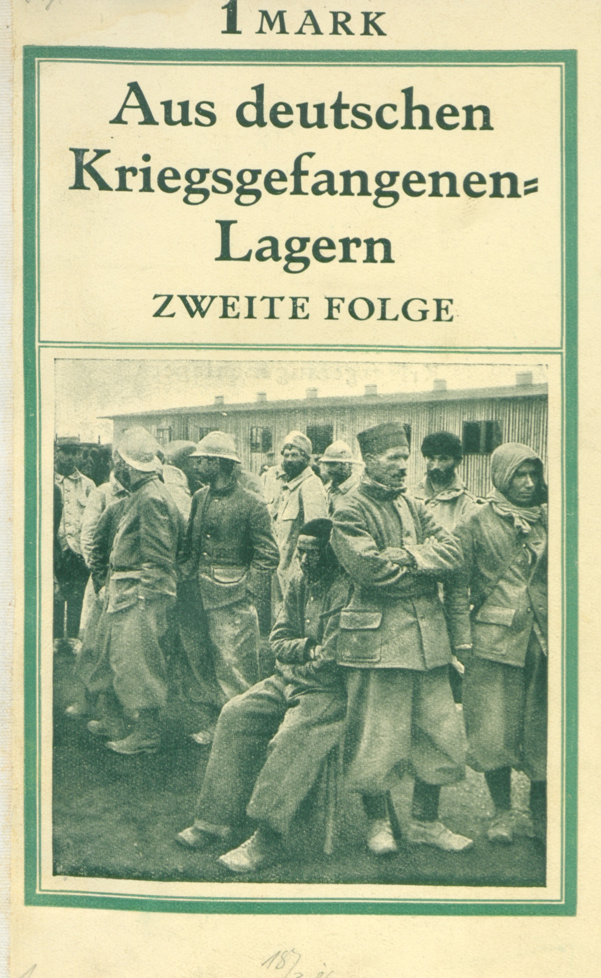 Photos of prisoners of war camps in Germany published in a German publication in 1916.