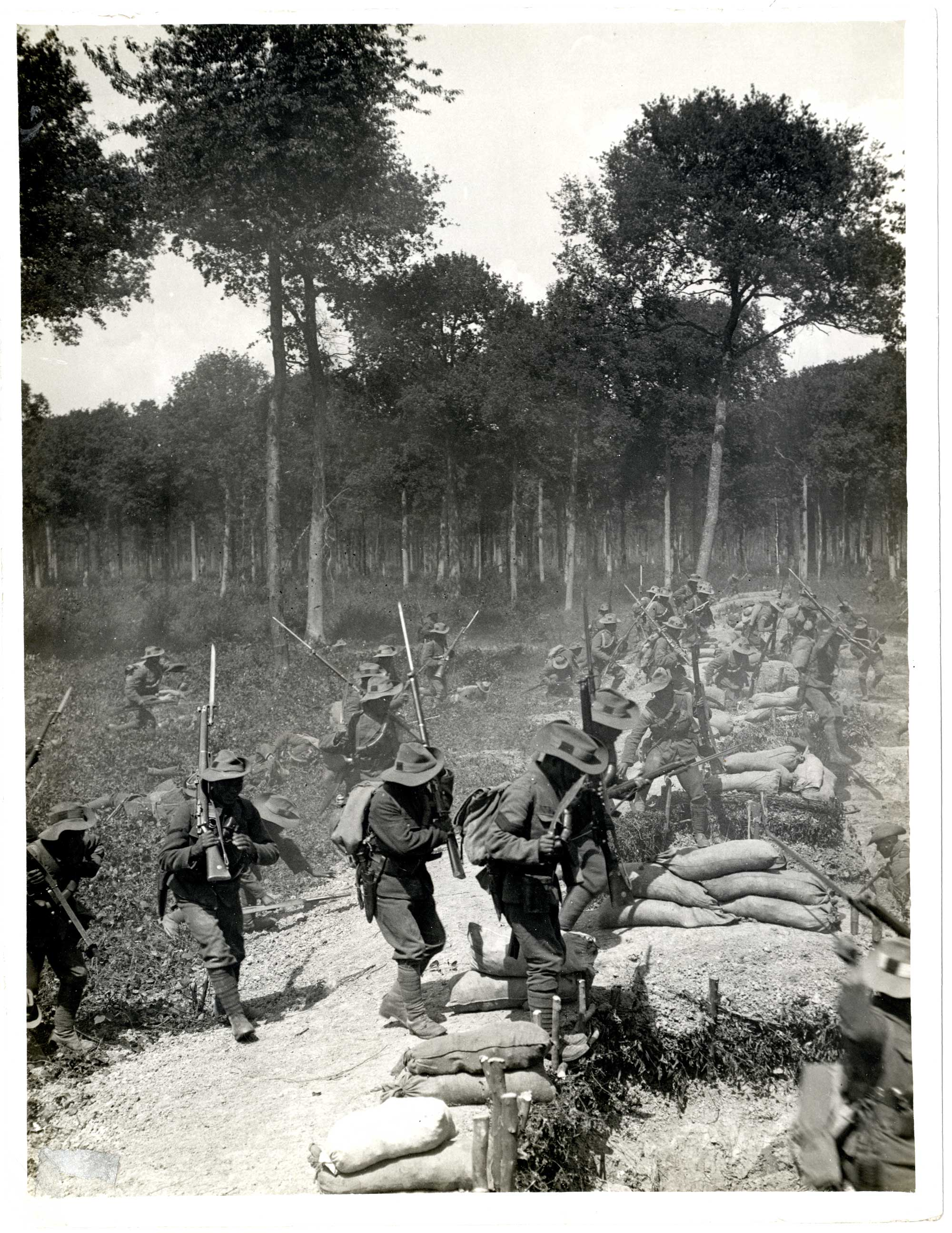 Series of photographs showing attack by 1/1st Gurkhas