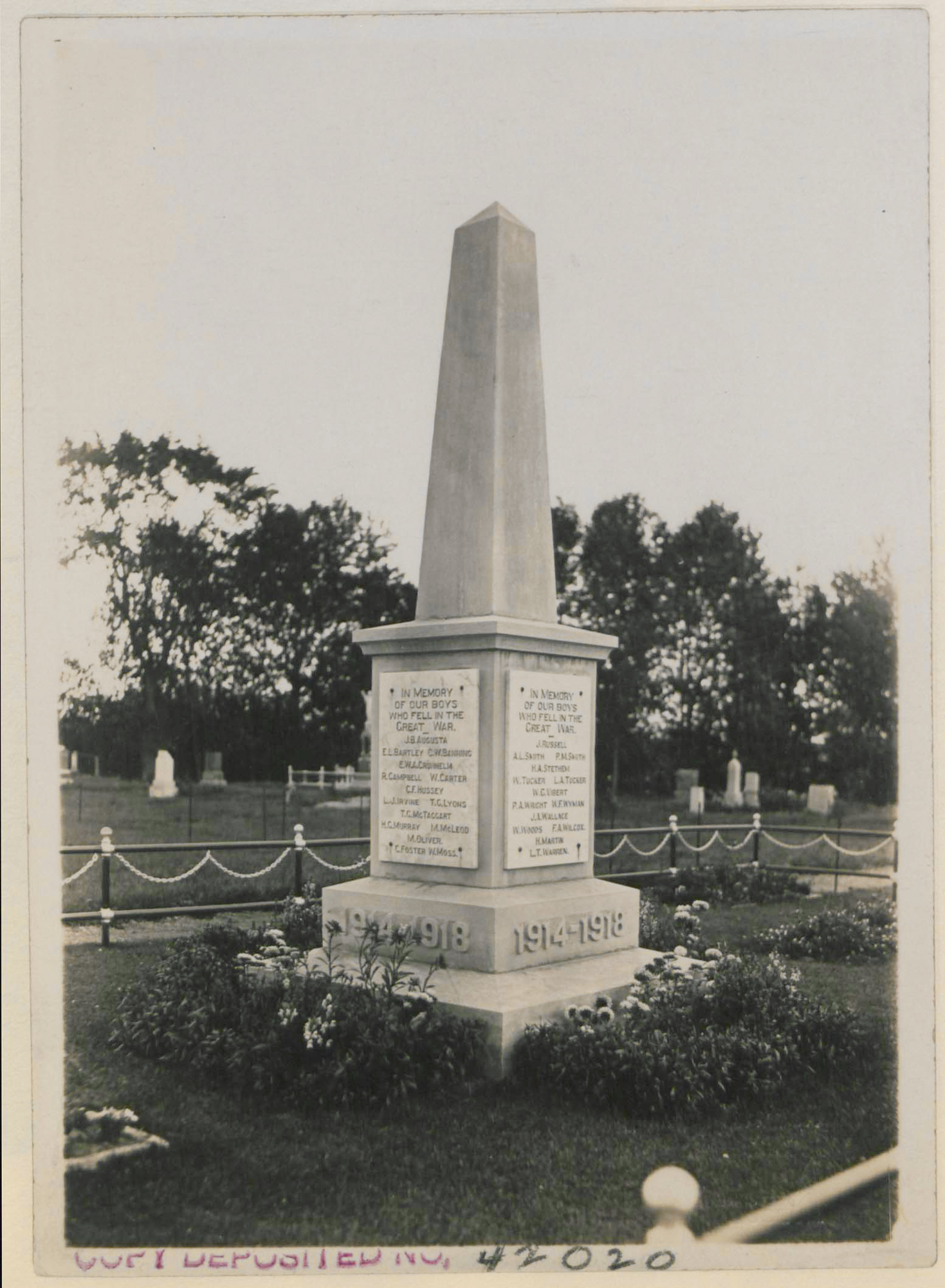 Soldiers' Memorial, Fort Frances