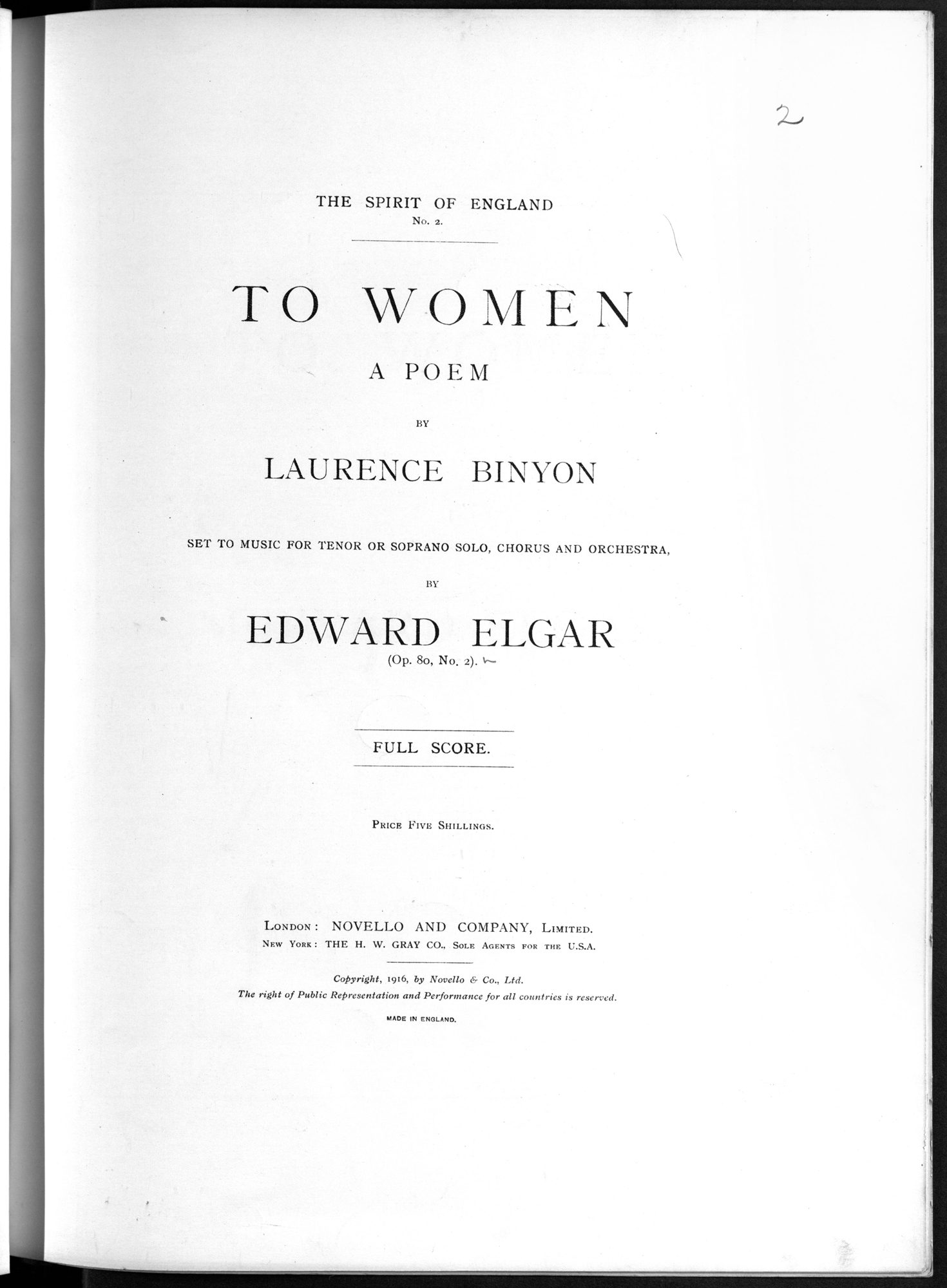 Designed to be inspirational for the nation, Elgar's The Spirit of England composed in 1916-17 was incredibly popular.