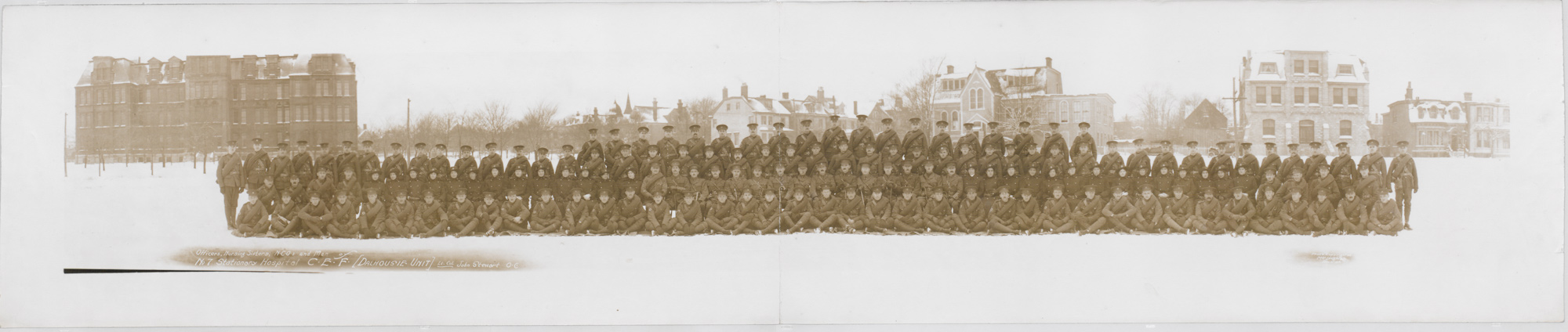 Canadian troops prior to departure for Europe.