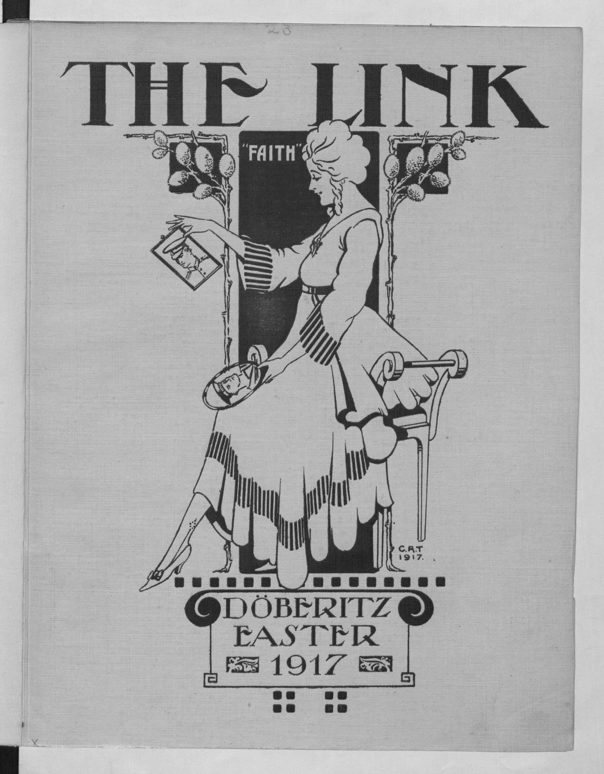 'The Link': a souvenir book published by British prisoners of war interned at Doeberitz, Germany, 1914-17.