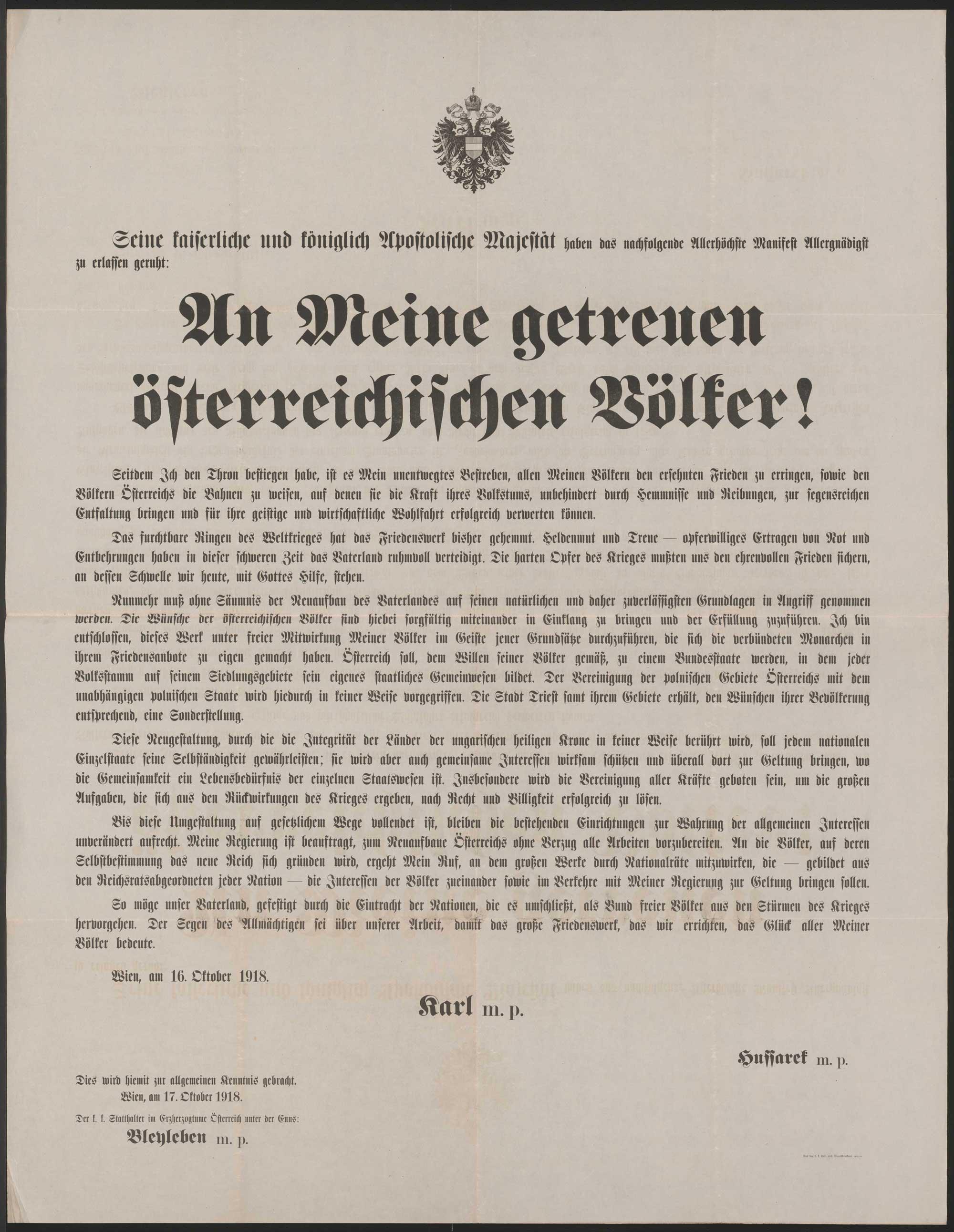 To faithful Austrian people