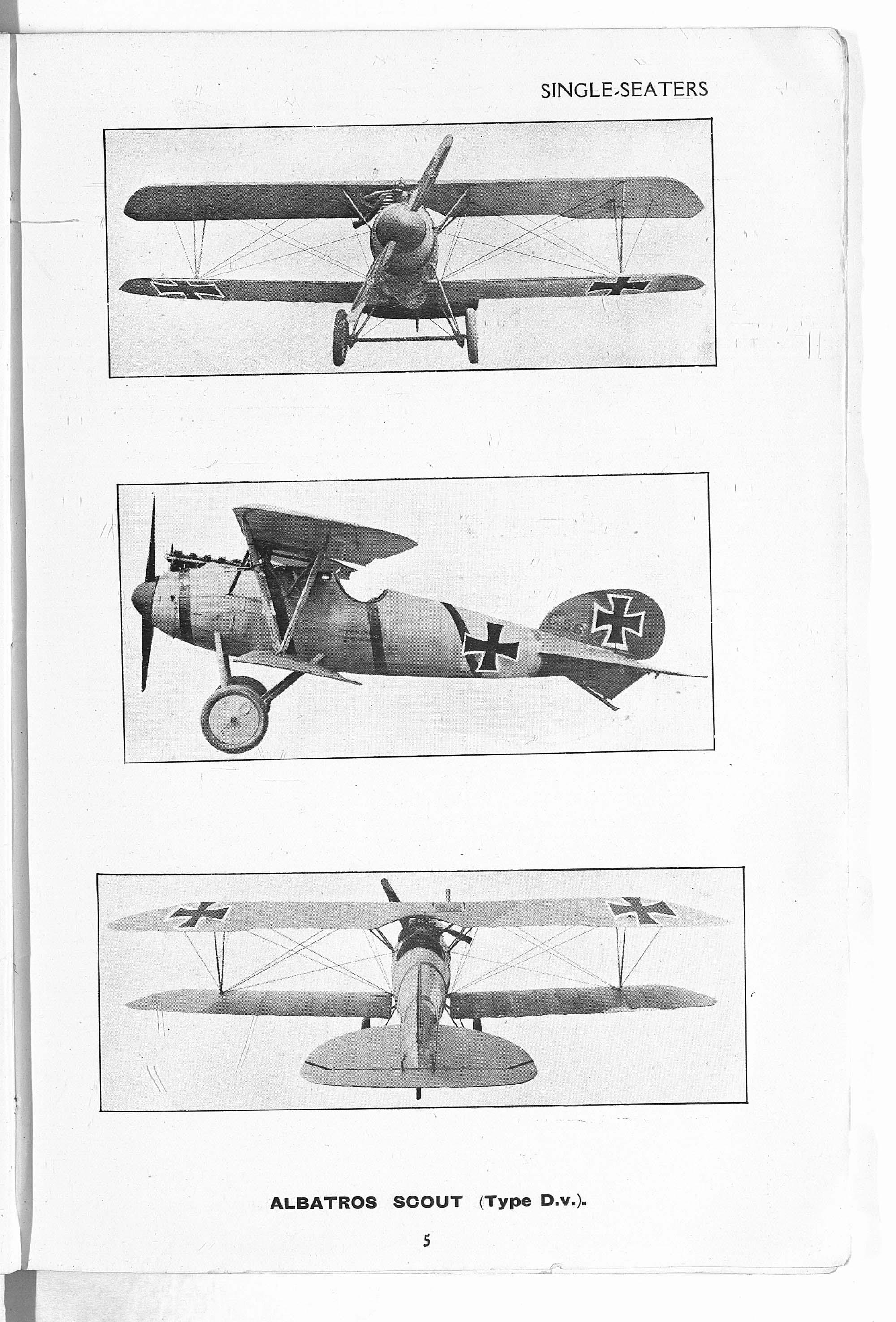 Types of German aeroplanes