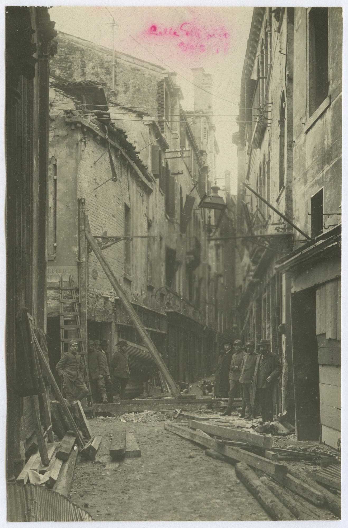 Venice: Calle dell'Olio destroyed