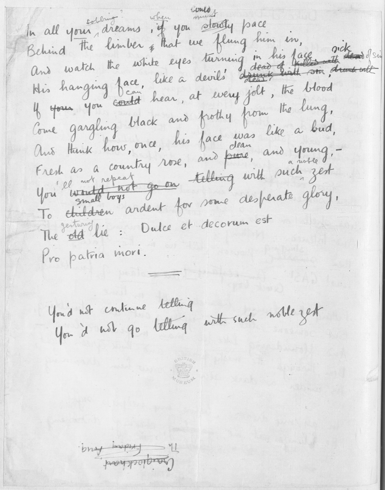 wilfred owen sparknotes
