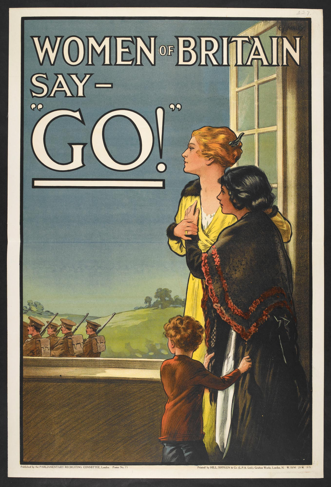 "'Women of Britain say - ""GO!""', a propaganda poster appealing to Britain's women to ensure their men enlist."