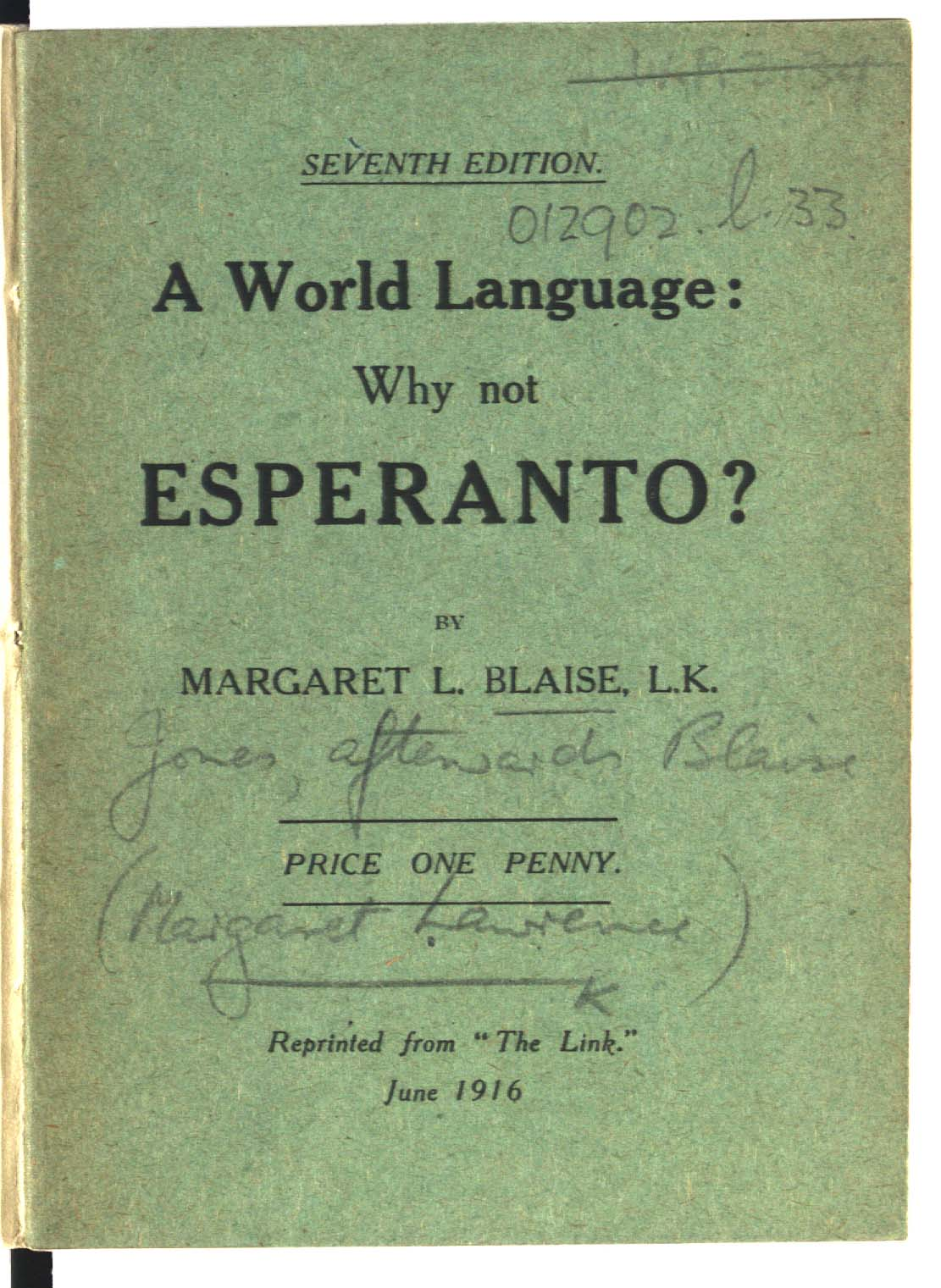 A World Language: why not Esperanto?