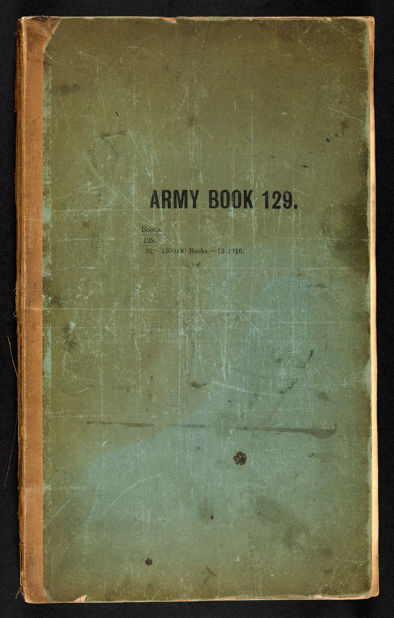 Alexander Flemings lab books from work as RAMC Captain in WWI.