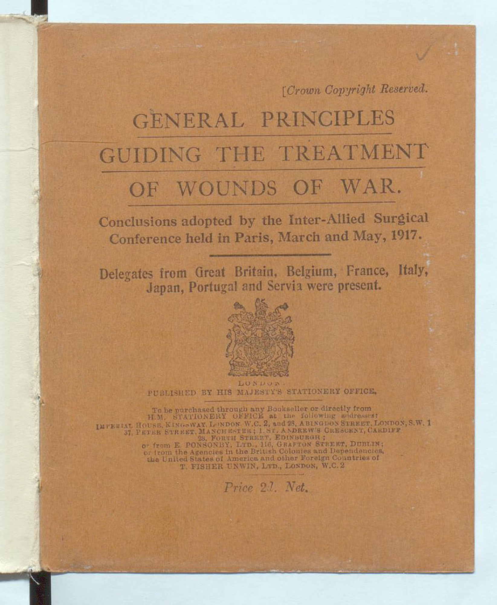 Guiding principles for the treatment of wounds of war