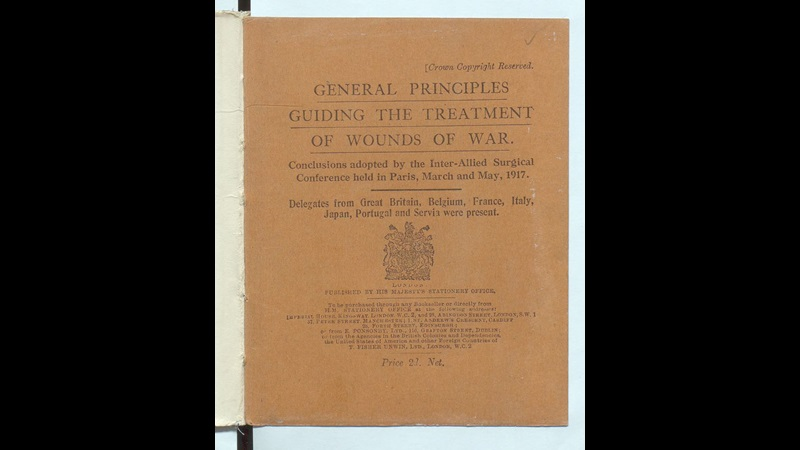 Front cover of 'Guiding principles for the treatment of wounds of war'
