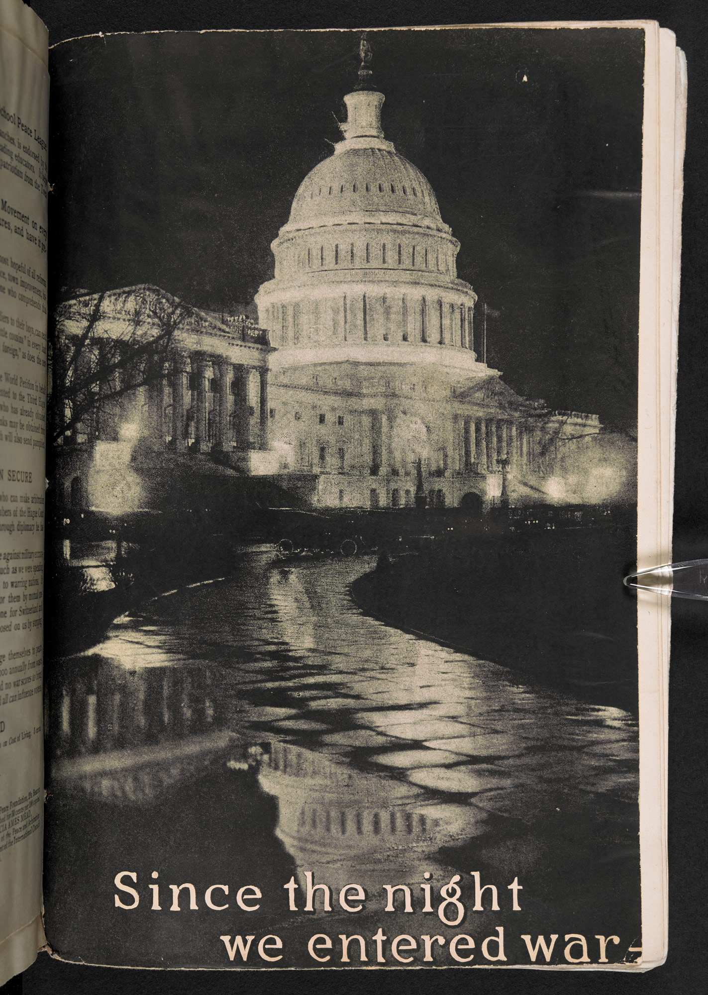 Front cover of AUAM pamphlet showing a photograph of Capitol Hill