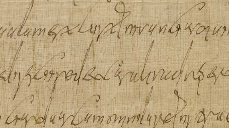 Handwriting on a manuscript