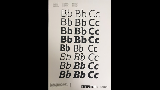 Variants on the letter B in the BBC Reith font