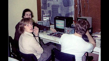 Steve Furber at work around the time of the BBC Micro development in the early 1980s.  Photo Chris Turner
