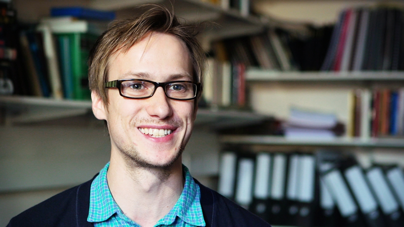 Alex Hall, PhD researcher using the British Library's newspapr collection