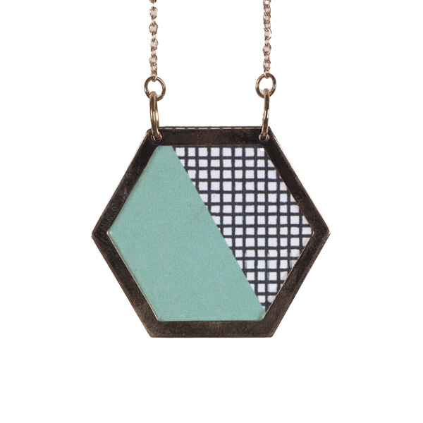 geometric necklace two