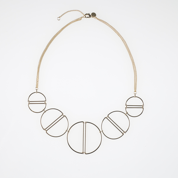 5 gold rings necklace