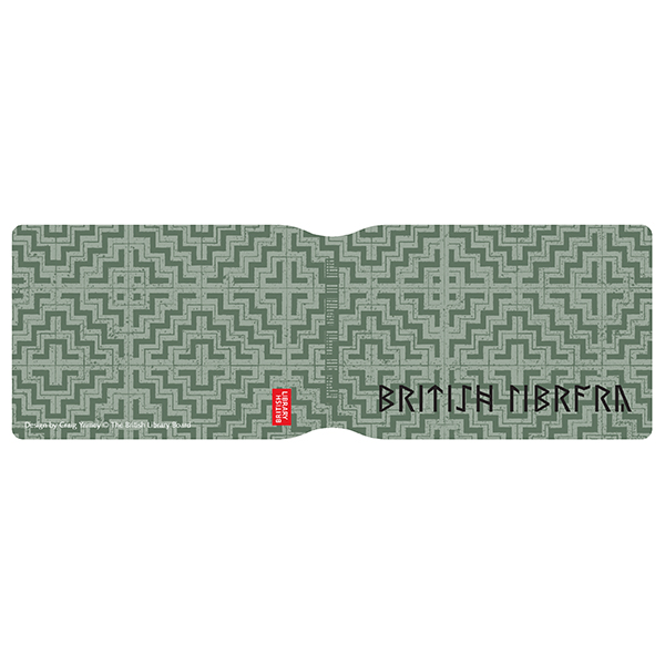 Green Pattern with Runes Card Holder