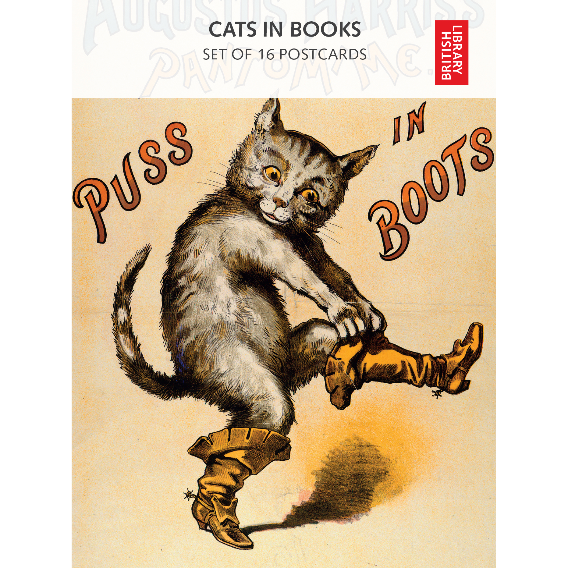 Cats in Books Postcard Pack Front