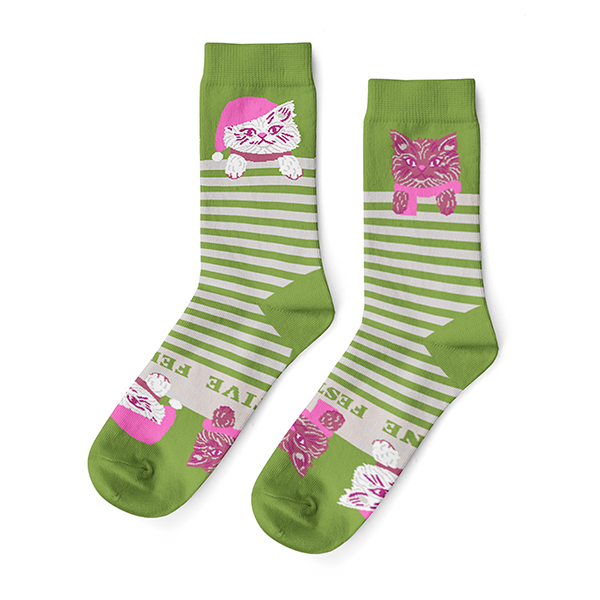 Feline Festive Womens Socks