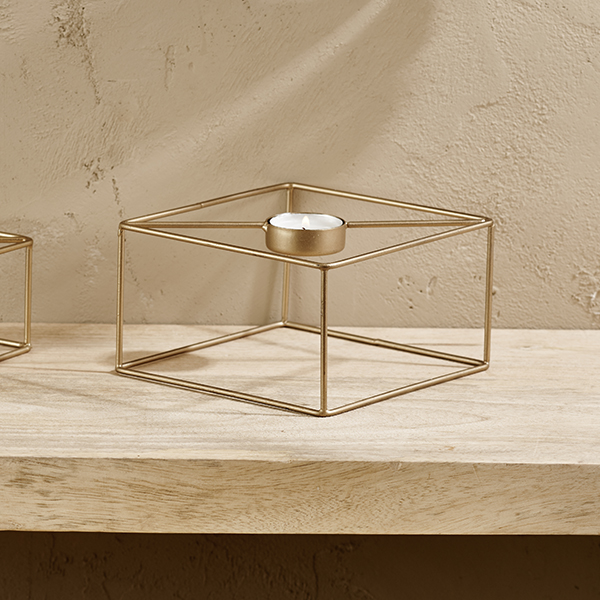Square Tea Light Holder Large