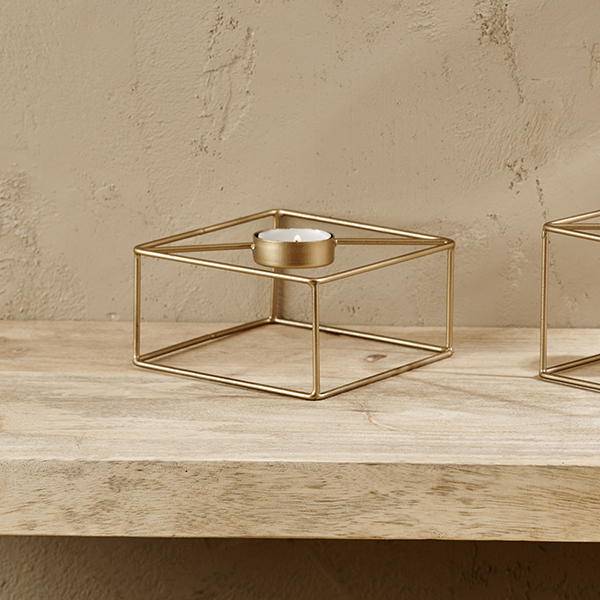 Square Tea Light Holder Small