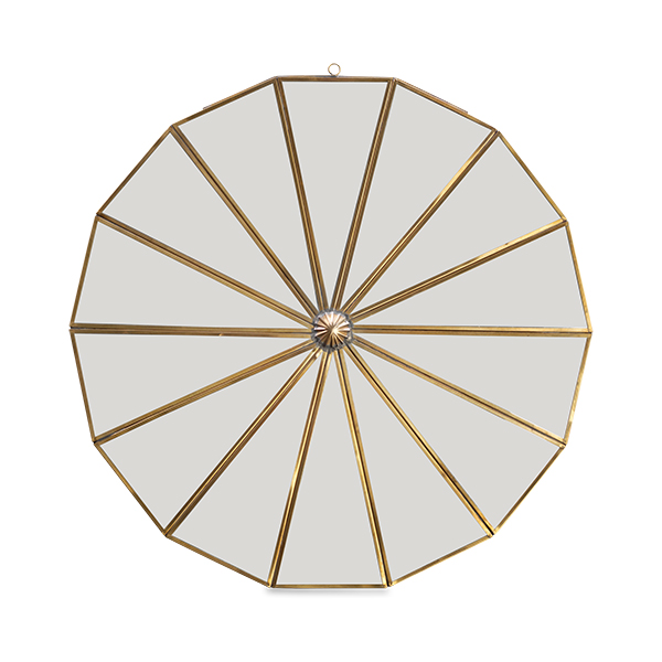 Large Brass Segment Mirror