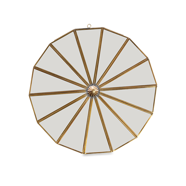 Small Brass Segment Mirror